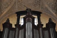 Le buffet d'orgue daté de 1857 c. Cortembos