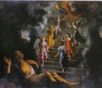 l'échelle de Jacob, peinture de Nicolaï, XVIIème siècle