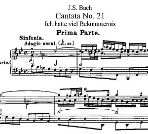 partition Bach