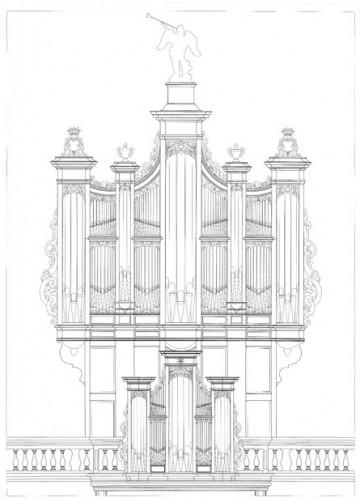 Projet de l'orgue restauré. (c) Manufacture d'orgues Thomas